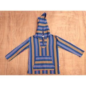 Appaman colorful striped hoodie poncho 4t